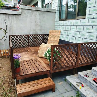 Outdoor anticorrosive wood floor courtyard balcony solid wood platform performance stage garden tatami step floor combination