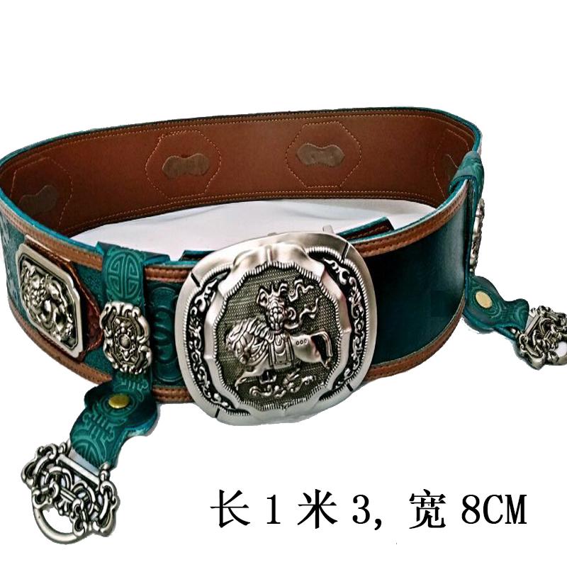 Внутренняя монголия монголия ремень мужской ветер монголия одежда ремень аксессуары воловья кожа производительность монголия элемент новый ремень