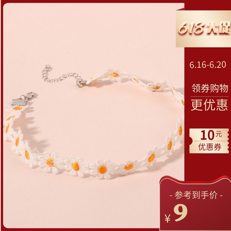 New ins European and American style jewelry Choker Gothic Lace Necklace retro simple fashion flower collar female