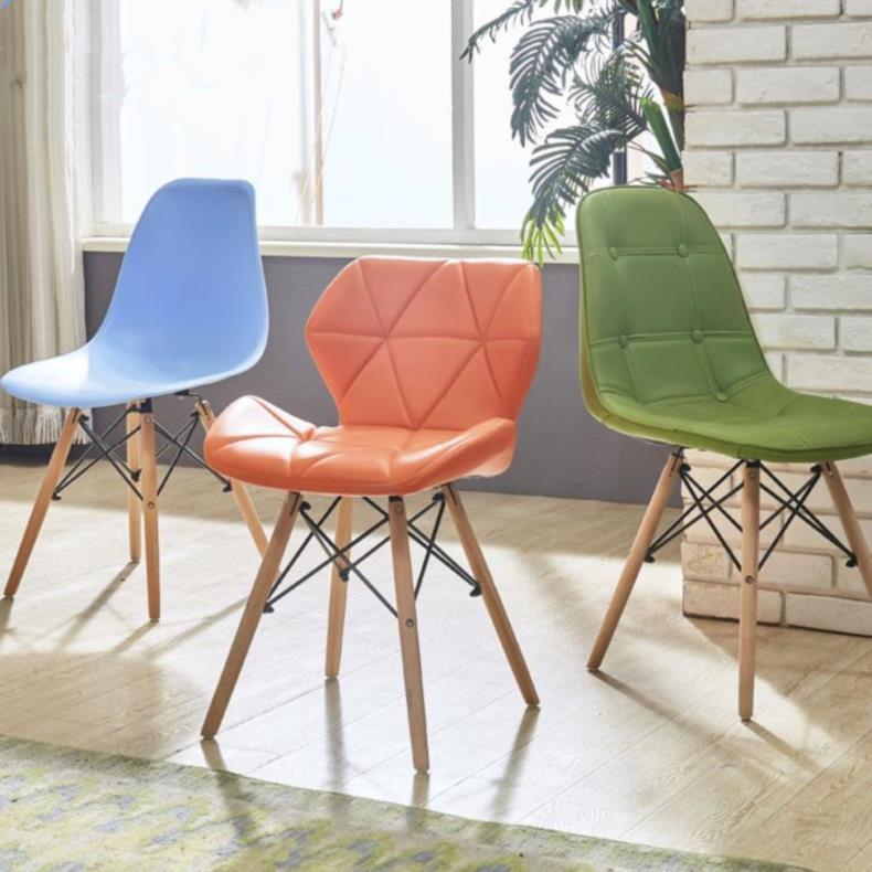 组合写字桌休闲区轻奢北欧风实木餐椅家具网红靠背椅餐厅会议椅游