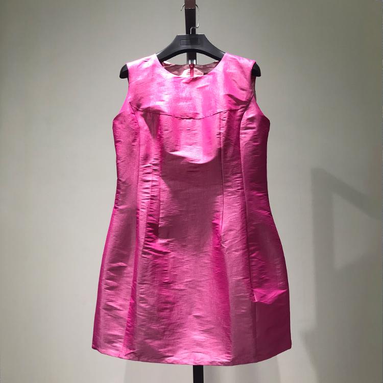 衣本折扣【KA】大牌女装剪标清仓正品无袖纯色中长款连衣裙