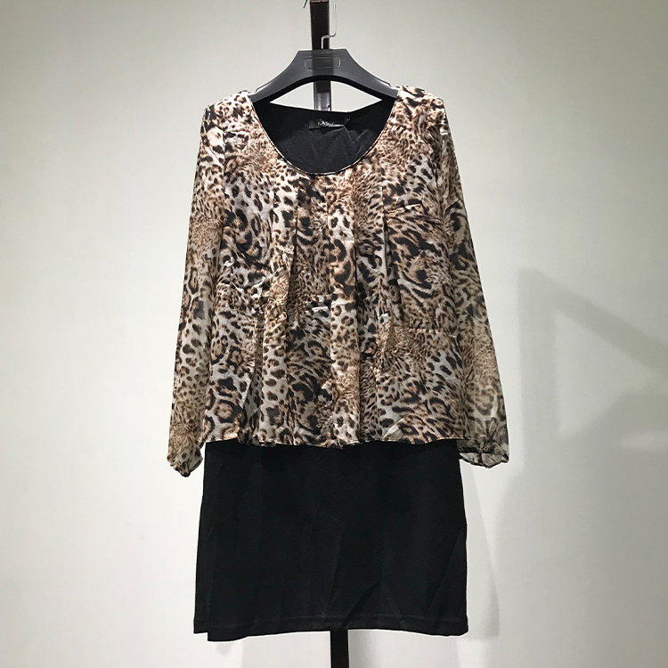 衣本折扣【KA】撤柜剪标折扣清仓品牌女装新款假两件套
