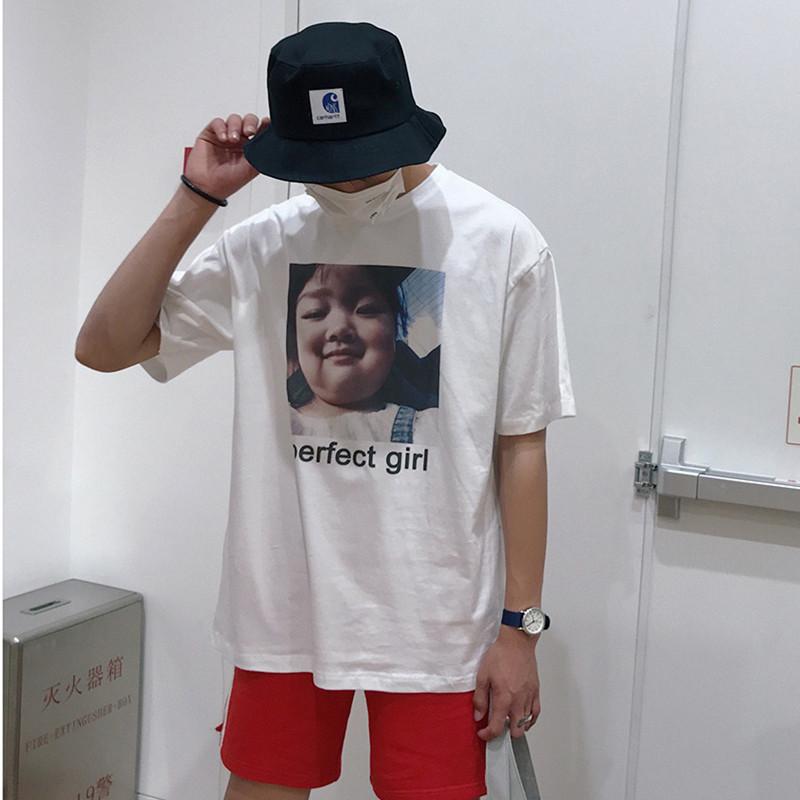 !2018夏季男女风权律二 棉宽松短袖T恤潮