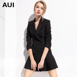 欧货时尚正装小西装外套女新款设计感气质女装职业装黑色西服上衣