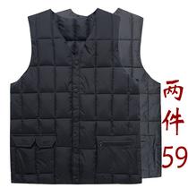 中年男装棉马夹中老年人男士保暖羽绒棉马甲秋冬保暖坎肩背心外套