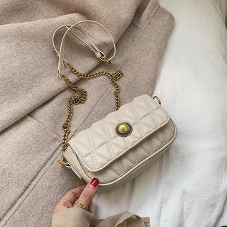 香港正品小包包女包2020新款百搭真皮链条小方包ck绣线单肩斜挎包