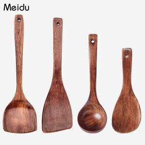 木铲子不粘锅专用锅铲套装木质平底锅铲煎铲饭勺家用炒菜铲子厨具
