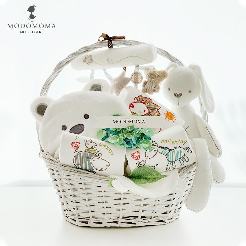 初生婴儿纯棉内衣服礼盒秋冬新生儿玩具男宝宝用品套装满月送礼