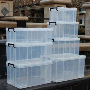 高透明收纳塑料箱直上直下储物箱整理箱特大号衣服箱子储藏箱加厚