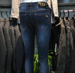 卡敦2021春夏季新款牛仔裤男商务休闲韩版修身小直筒长裤子ZN9009