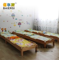 Factory Direct Kindergarten solid wood bed Children Board nap bed overlapping bed managed pine wooden bed wholesale
