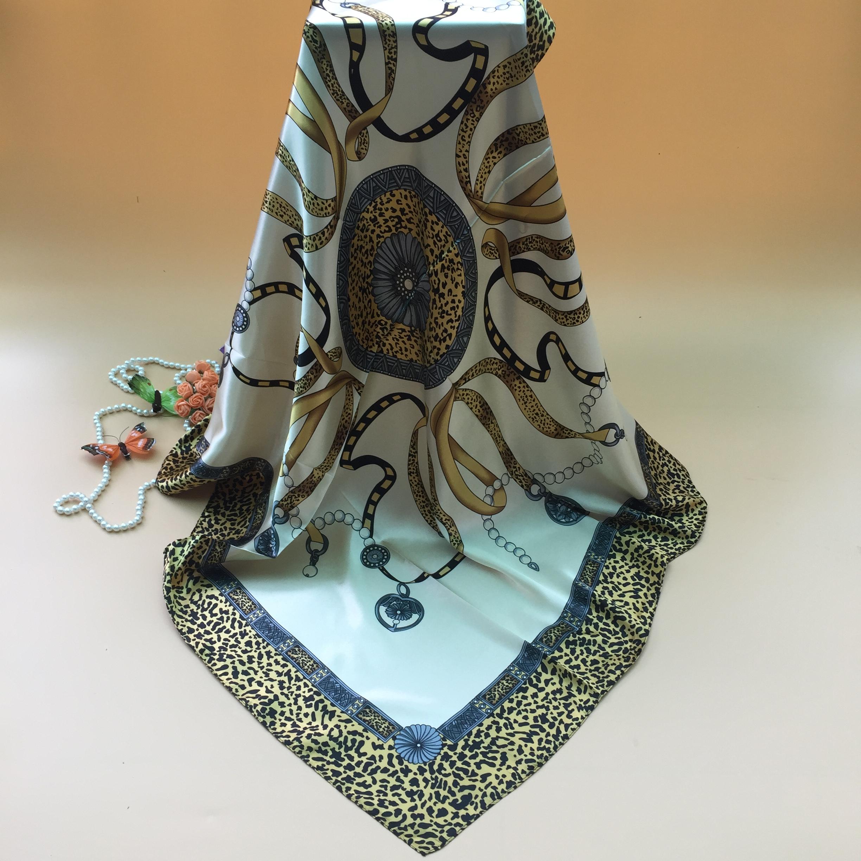 Hangzhou silk simulation silk scarf 90 square scarf silk scarf winter womens scarf wedding gift