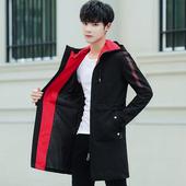 帅气中长款 风衣服潮 修身 冬季 夹克男装 2019春秋季 男士 新款 外套韩版
