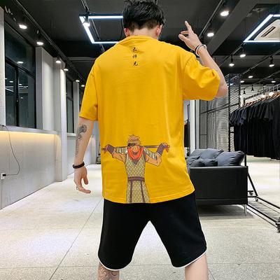 短袖男t恤悟空一套装韩版潮流衣服男装帅气搭配潮牌夏装 P45 控79