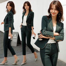 Casual professional women's suit temperament fashion autumn and winter British style Korean version suit business formal work clothes