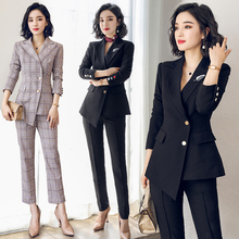Professional suit suit women's British style leisure temperament fashion suit women's business dress autumn and winter work clothes