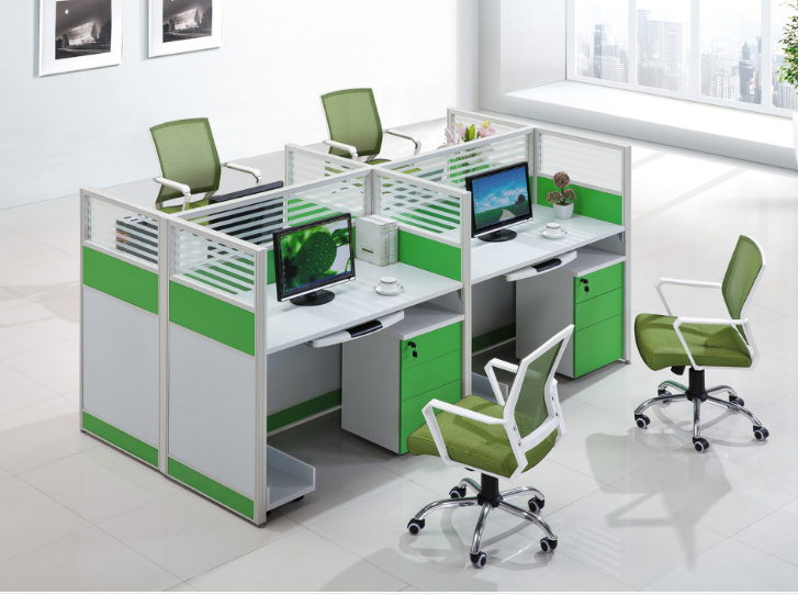 Nanning factory direct selling office furniture screen card holder staff desk chair combination table partition partition card holder