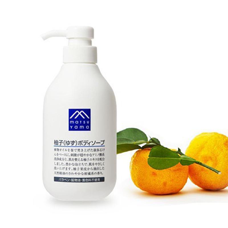 现货)享受天然SPA】松山油脂 M-mark 柚子沐浴露 480毫升 新发售
