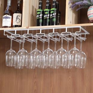 欧式葡萄酒杯倒挂家用红酒杯架创意酒柜吧台高脚杯架悬挂吊杯架子