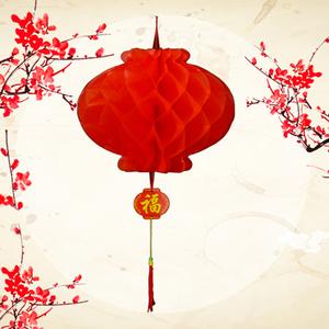 新年纸灯笼结婚平安开业挂饰装饰挂件乔迁节日婚礼大红蜂窝纸灯笼