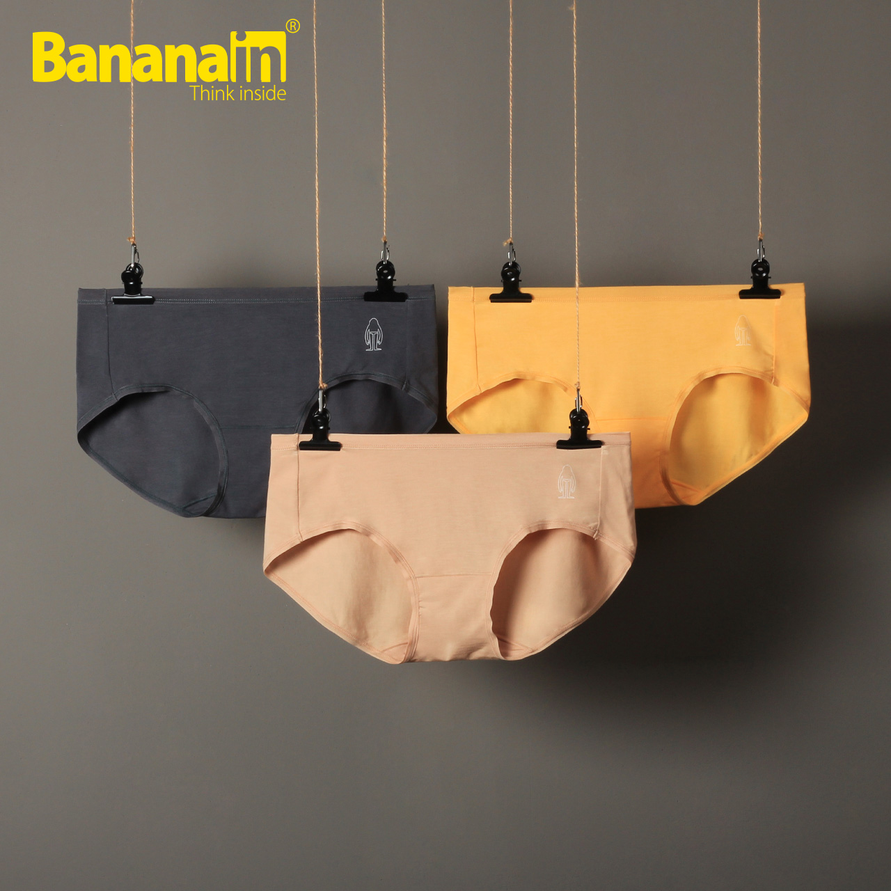 Bananain莫代尔姓感中高腰无痕大码三角裤女士内裤500E3件装蕉纶