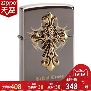 原装正品ZIPPO防风打火机 黑冰贴章圣天使十字架 官方正品