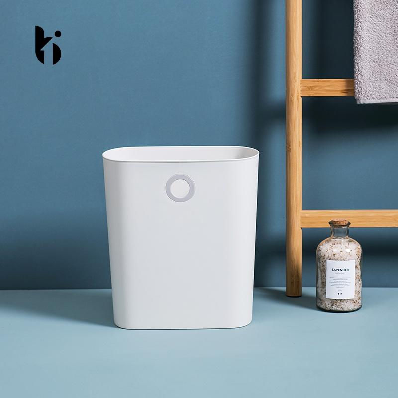 宝佳净北欧窄缝卫生间垃圾桶家用厨房挂式垃圾桶创意简约ins风