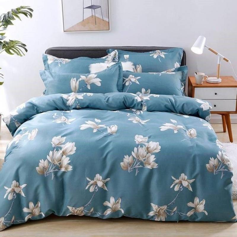 4亲肤磨毛被套单件床单四件套被罩150x200宿舍床单三件套四季可用