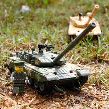 軍事シミュレーションモデルの音と男性の装甲子供のための軽金属プルバックのおもちゃを組み合わせ、中国T99主力戦車