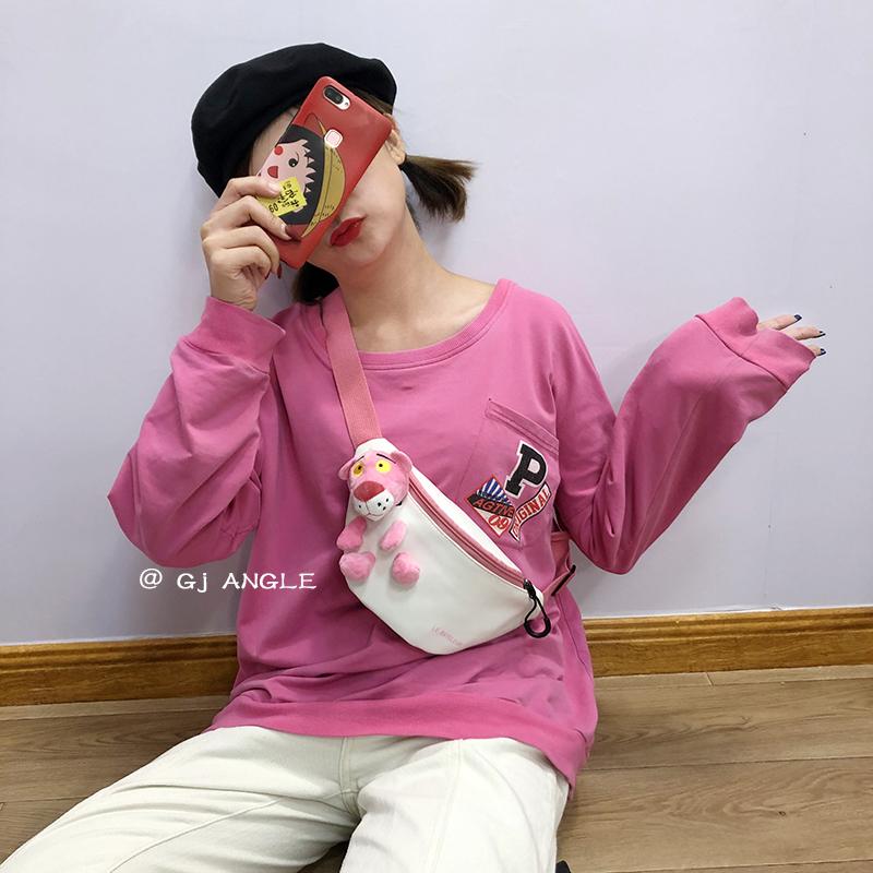 韩国ins可爱小包女2020新款手机包玩偶胸包网红学生休闲斜挎腰包