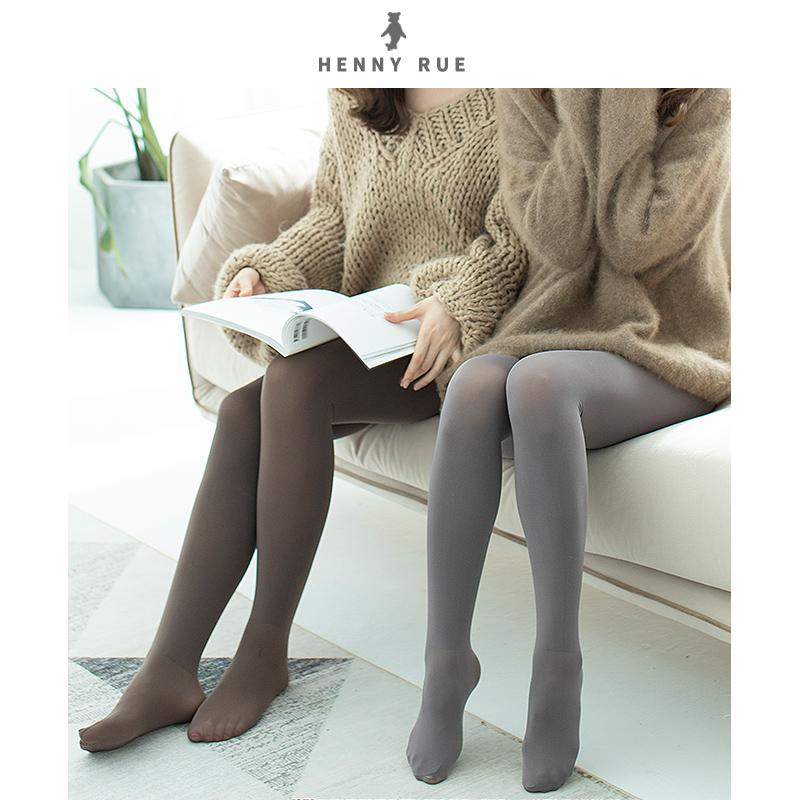 Henny rue spring and autumn thin medium thick velvet pantyhose skin color natural bear bottom socks female flesh color