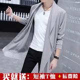 风衣男中长款2020春夏新款帅气韩版青年学生披风外套潮流防晒衣服