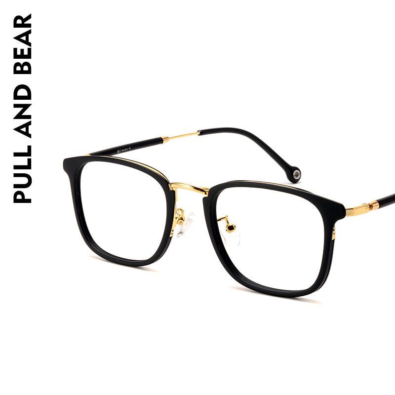pullandbear复古tr90方框女眼镜框