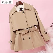 短款风衣女2020秋流行150cm胖矮小个子搭配娇小145显高英伦风外套