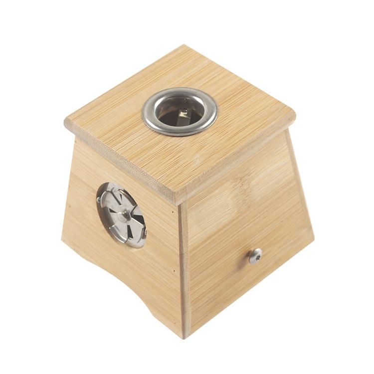 加厚竹制单孔艾盒 单眼温灸盒 1孔艾条盒 艾灸盒温灸器艾灸器具