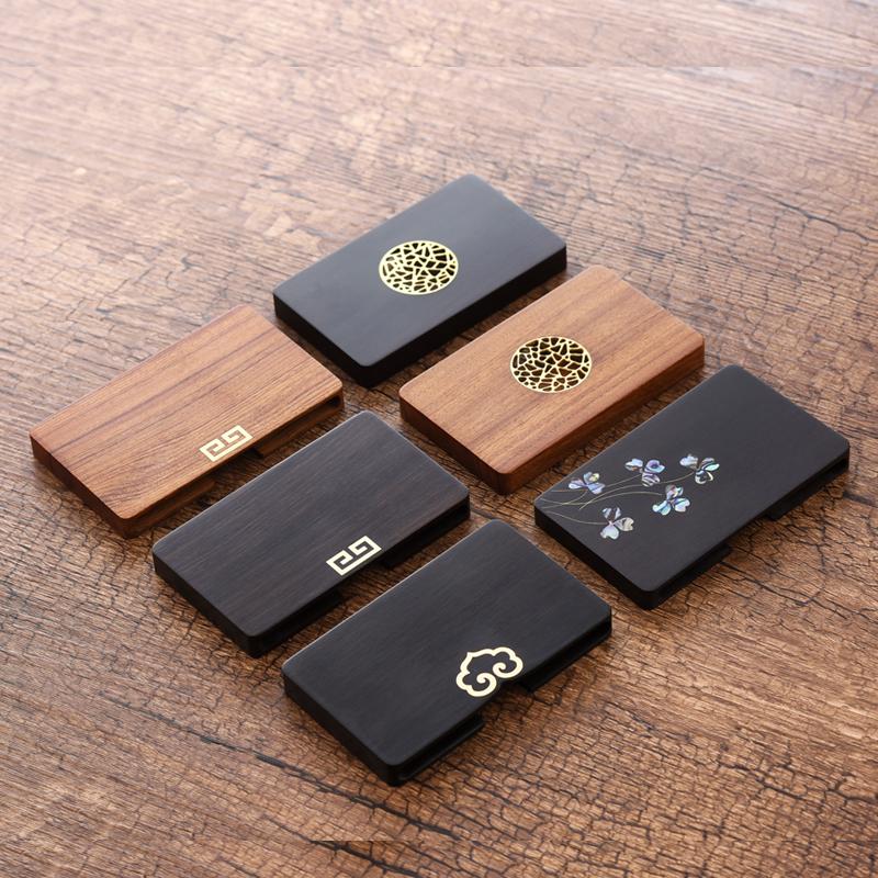 复古典红木名片夹中国风特色创意圣诞节礼物公司商务礼品定制logo