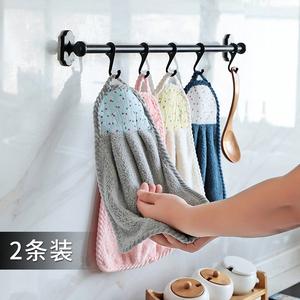擦手巾挂式吸水毛巾家务清洁抹布家用洗碗布不掉毛厨房用品洗碗巾