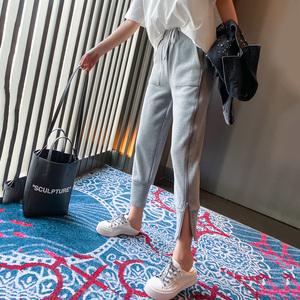 黑色裤子女哈伦裤2020春装新款女装韩版时尚百搭运动裤女宽松束脚