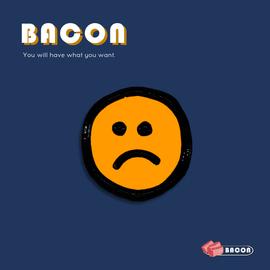 BACON不开心胸针可爱日系徽章领针包包小配件文艺女个性饰品简约