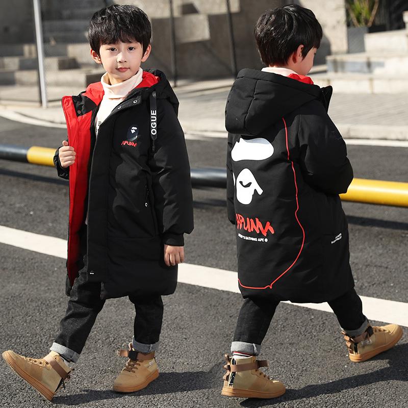 男童棉衣2019新款儿童冬装羽绒棉棉服外套中长款冬季洋气加厚棉袄