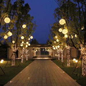 LED挂树圆球灯藤球彩灯发光防水户外新年节日装饰园区广场亮化
