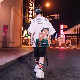 儿童嘻哈风街舞蹈服六一儿童街舞套装男童演出服夏t恤hiphop潮装