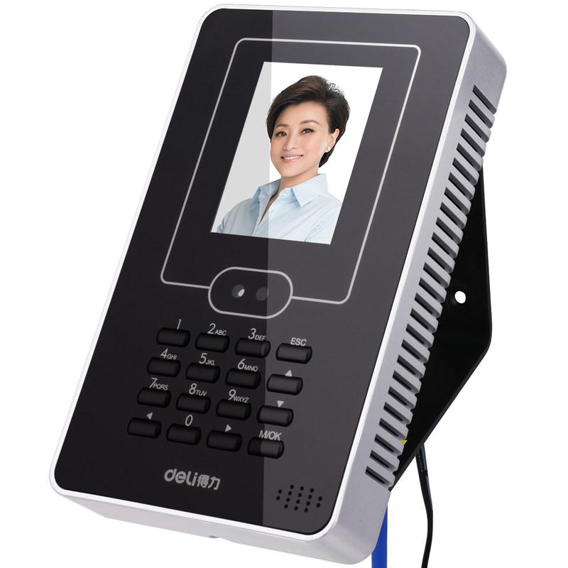 得力3940Z人脸机 面部打卡机智能识别签到考勤免软件安装考勤门禁