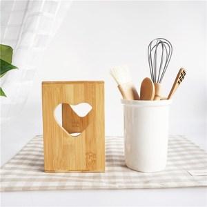 包邮日式陶瓷竹架双筒沥水筷子筒 厨房家用餐具置物筷子架筷子盒
