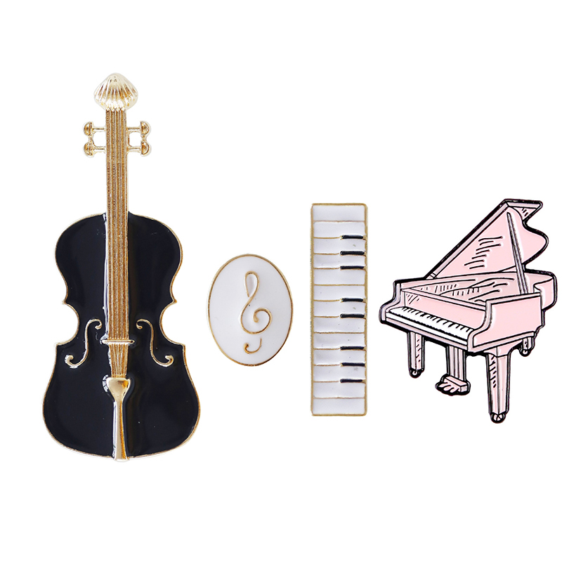 Musical note Brooch triangle piano violin pin clothing suit corsage creative music accessories Pendant Gift