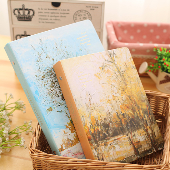 9-hole loose leaf case 9-hole B5 notebook leather loose leaf clamp ring cover removable perforated accessories Hardcover