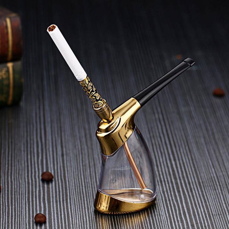 水烟壶透明全套水烟斗阿拉伯烧锅烟袋烟筒壶壶烟嘴创意过滤配件 Изображение 1