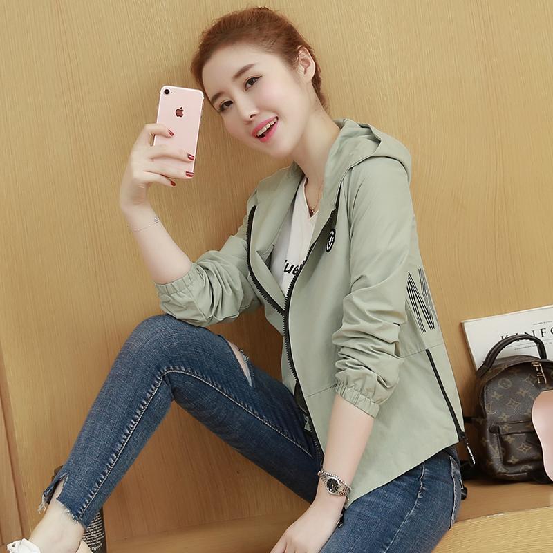 2018春秋新款韩版女装长袖夹克棒球服宽松显瘦百搭休闲短款小外套