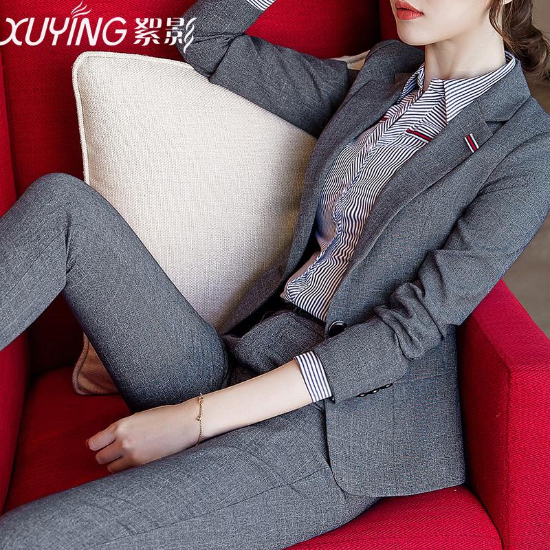 职业装女装套装秋冬新款韩版气质西装时尚工装面试西服工作服正装
