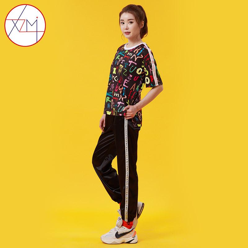 港风套装女2020新款夏季韩版休闲运动服大码宽松时尚修身两件套潮